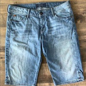 Hudson denim Bermuda shorts